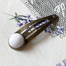 Ozdoby do vlasov - White Jade Bronze Hairpin / Sponka do vlasov s bielym jadeitom - 13085205_