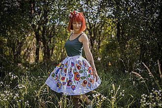 """Sukne - Sukňa """"farebný folk"""" - sukne - 13087200_"""