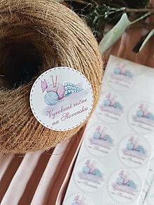 Papier - Handmade nálepky 2 - sada 20 ks - 13085298_
