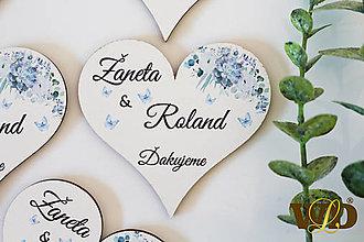 Darčeky pre svadobčanov - Drevené magnetky - 13088348_