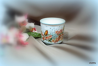 Svietidlá a sviečky - svietnik Vtáčiky - 13087421_