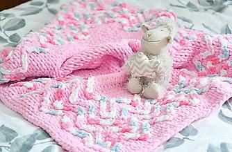 Textil - ♥ baby ružová ♥ deka 85cm - 90cm : z Puffy Fine - 13085912_
