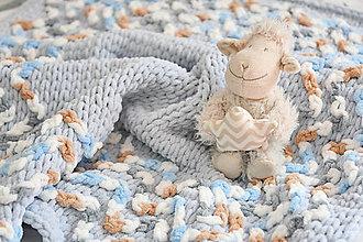 Textil - ♥ svetlo-sivá ♥ deka 85cm - 90cm : z Puffy Fine - 13085946_