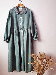 Šaty - Shabby šaty z ľanu - 13088190_