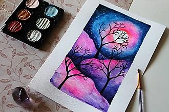 Kresby - Sen noci rúžovej - originál - 13088438_