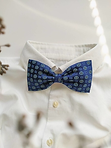 Doplnky - Motýlik modrý kvetinkový č. 2 - 13088999_