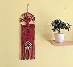 Dekorácie - Strom života bordový s listom - 13084711_