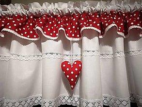 Úžitkový textil - Záclonka malinová - 13084760_