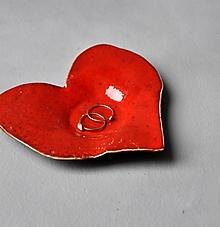 Nádoby - tanierik srdce červené - 13087216_