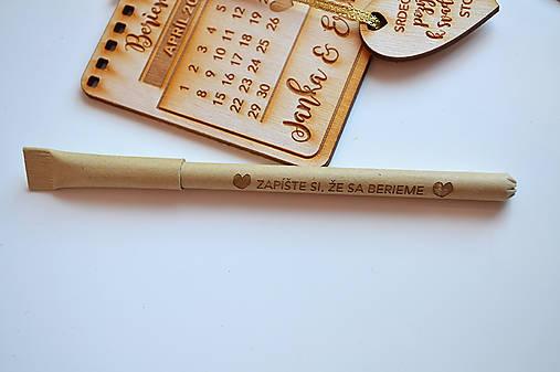 Kartónové gravírované svadobné pero