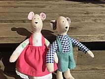 Hračky - myšiačik v modrých nohaviciach ... - 13086548_