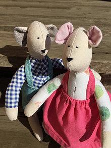 Hračky - myška hryzka  ... v ružovej sukni - 13086171_