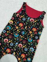 Detské oblečenie - Tepláčiky na traky folk - 13088736_