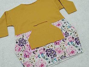 Detské oblečenie - Šatky s kvetinkami - 13088997_