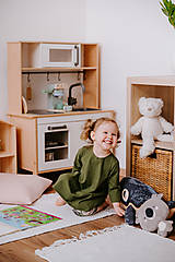 Detské súpravy - 2-dielny set tunika - legíny (Zelená) - 13086188_