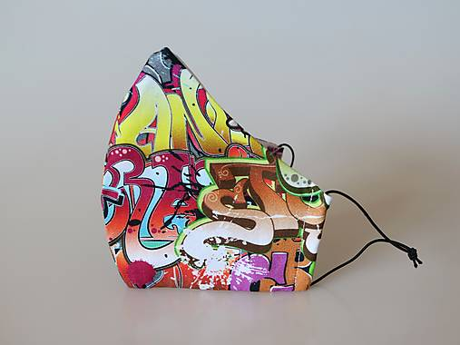Dizajnové rúško street art prémiová bavlna antibakteriálne