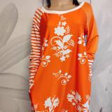 Šaty - FLORAL FOLK -  šaty v dĺžke midi s vačkami (mandarínka s bielou) - 13089943_