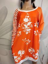 Šaty - FLORAL FOLK -  šaty v dĺžke midi s vačkami (mandarínka s bielou) - 13089944_