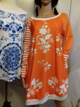 Šaty - FLORAL FOLK -  šaty v dĺžke midi s vačkami (mandarínka s bielou) - 13089957_