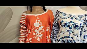 Šaty - FLORAL FOLK -  šaty v dĺžke midi s vačkami (mandarínka s bielou) - 13089961_