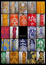 Šaty - FLORAL FOLK -  šaty v dĺžke midi s vačkami (mandarínka s bielou) - 13091309_