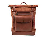 Batohy - Dámsky Roll top ruksak z kože - 13091193_