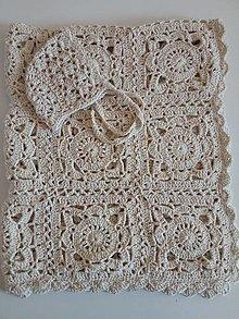 Úžitkový textil - Háčkovaná deka - 13092516_