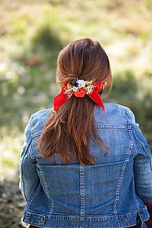 """Ozdoby do vlasov - Spona s mašličkou """"keď maky kvitnú"""" - 13092945_"""