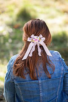 """Ozdoby do vlasov - Spona s mašličkou """"úsmev pre teba"""" - 13093057_"""