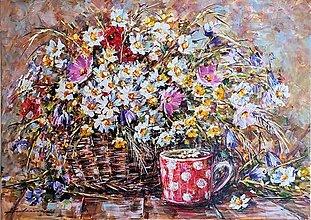 Obrazy - Kvety so šálkou - 13092436_