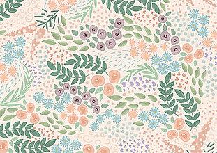 Kresby - Pohľadnice edícia Floral - 13092899_