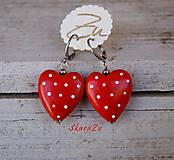 Náušnice - Heart dots mini / 3D - 13092194_