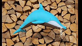 Hračky - delfín - 13091532_