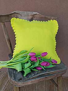Úžitkový textil - Obliečka na vankúš Lemon Pie - 13093490_