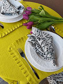 Úžitkový textil - Ľanové prestieranie Lemon Pie - 13093553_