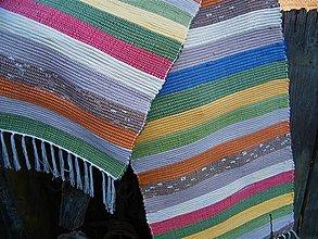 Úžitkový textil - Tkaný koberec pestrofarebný 15 - 13092151_
