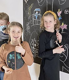 Šaty - Detské tabuľové šaty - hnedé - 13094586_