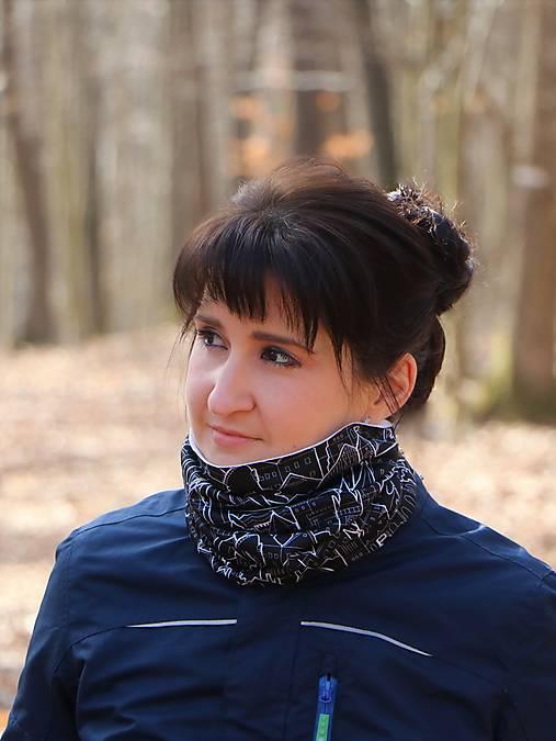 Multifunkčná šatka milujeme Slovensko čierna