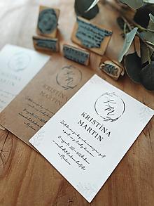 Papiernictvo - Sada pečiatok na svadobné oznámenia venček - 13097650_
