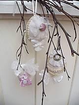 Dekorácie - Shabby chic veľkonočné vajíčka - 13097116_