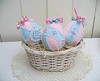 Dekorácie - Veľkonočné vajíčka /sada 3ks/ - 13097196_