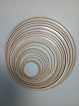 Dekorácie - Drevený kruh na výrobu lapača snov (Kruh 12cm) - 13095878_