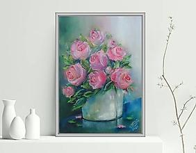 Obrazy - Ruže vo váze 33x24 - 13097093_
