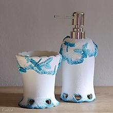 Nádoby - Vážky do kúpeľne Rustic - sada 2 ks - 13096572_