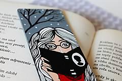 Papiernictvo - Drevená záložka do knihy - Knihomoľka - 13096504_