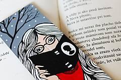 Papiernictvo - Drevená záložka do knihy - Knihomoľka - 13096505_