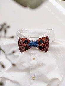 Doplnky - Motýlik modro-oranžový ornamentový II. - 13094942_