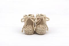 Topánočky - Béžové papučky zimné ALPACA - 13096424_