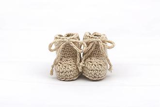 Detské topánky - Béžové papučky zimné ALPACA - 13096424_