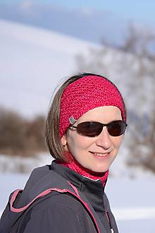 Ozdoby do vlasov - Športová vysoká čelenka RUNNER unisex, na mieru, bezšvová, 100% merino - 13096209_